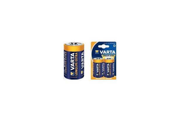 VARTA Longlife Extra Mono D Batterie (2 Stück)