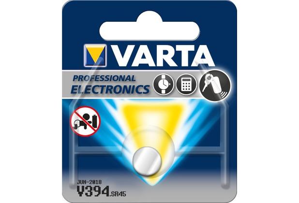 VARTA Batterie Silver Oxide - Knopfzelle - V394 - 1.55V Professional Electronics - (1-Pack)