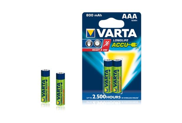 VARTA Longlife Accu Micro AAA 800 mAh (2 Stück)