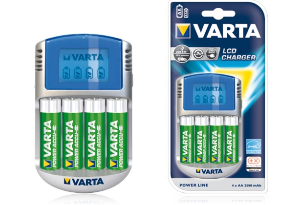 VARTA Power Play LCD Ladegerät inkl. 4x Mignon AA Akku 2500 mAh