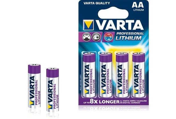 VARTA Professional Lithium Batterie Mignon AA 2900 mAh (4 Stück)