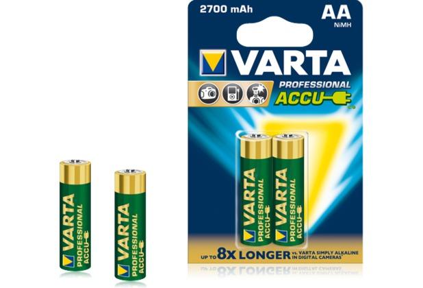 VARTA Professional Akku Mignon AA 2500 mAh (4 Stück)