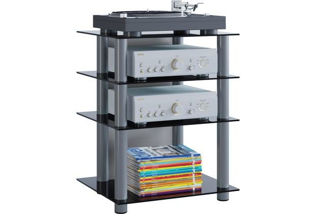 vcm hifi m bel rack phono turm medienrack medienm bel. Black Bedroom Furniture Sets. Home Design Ideas