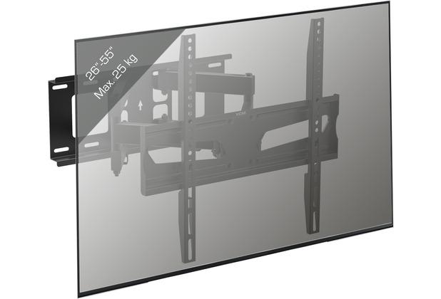 "VCM LCD LED Fernseher Wandhalter TV Wandhalterung 32-65 Zoll schwenkbar neigbar VESA \""B-NS 400\"" schwarz"