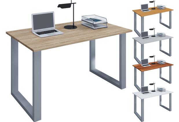 """VCM Schreibtisch Computertisch Arbeitstisch Büro Möbel PC Tisch \""""Lona\"""" B. 140 x T. 80 cm  Sonoma-Eiche"""