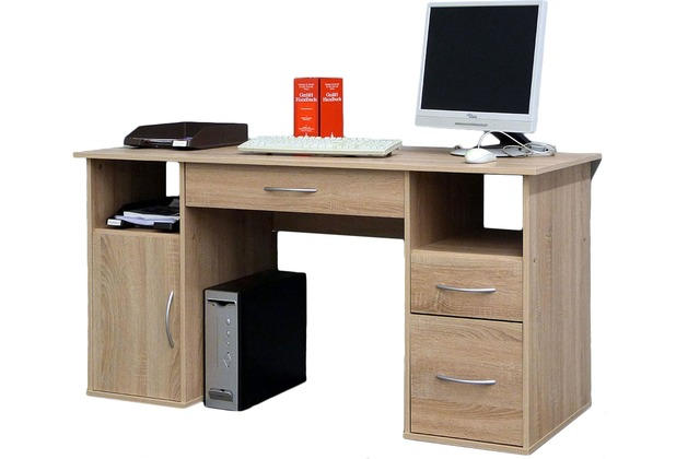vcm schreibtisch tisch computertisch laptop pc fach. Black Bedroom Furniture Sets. Home Design Ideas