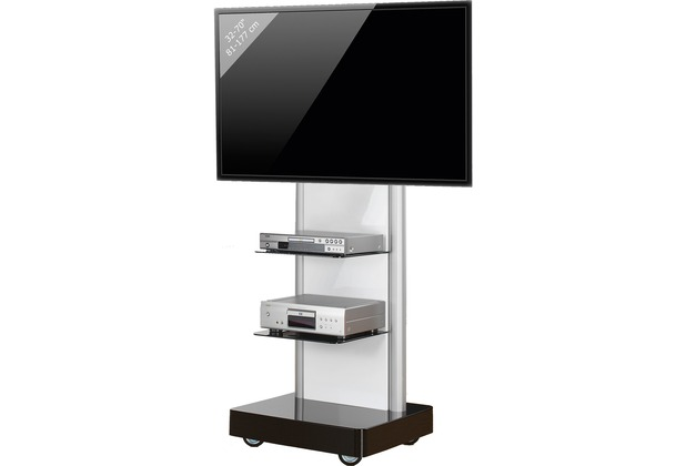 vcm tv standfu led st nder fernseh standfuss alu glas universal prostand universell vesa. Black Bedroom Furniture Sets. Home Design Ideas