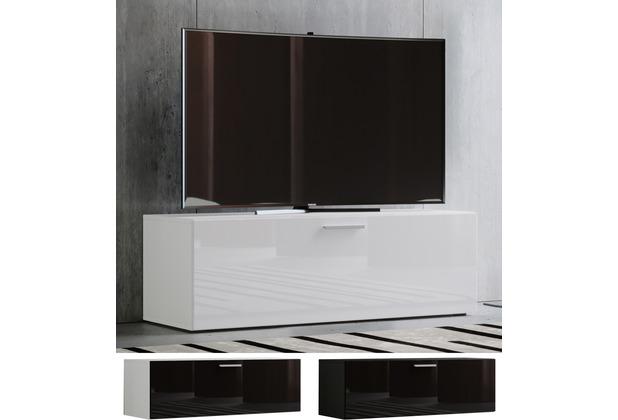 """VCM TV Lowboard Fernsehtisch Rack Phono Möbel Tisch Holz Sideboard Medienrack Fernsehbank \""""Winalo\"""" B. 95cm Schwarz"""