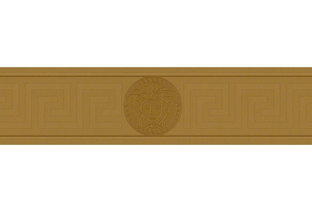 Versace Bordüre Greek, metallic braun