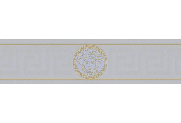 Versace Bordüre Greek, metallic silber