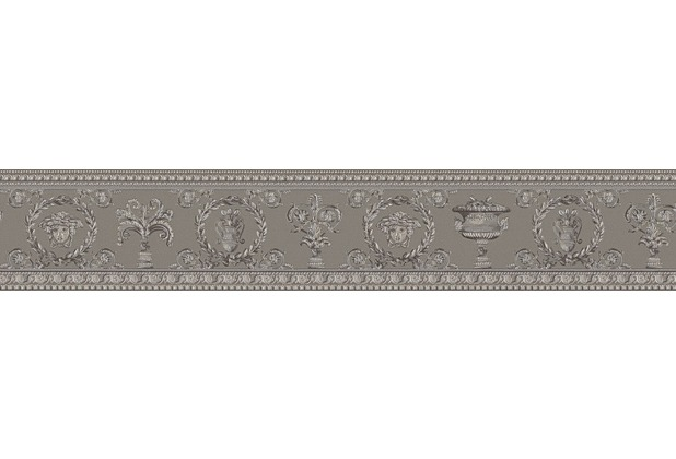 Versace Bordüre Vanitas beige grau metallic 5,00 m x 0,09 m