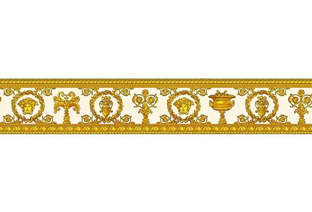 Versace Bordüre Vanitas gelb metallic orange 5,00 m x 0,09 m