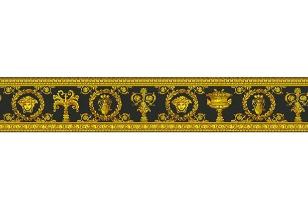 Versace Bordüre Vanitas gelb metallic schwarz 5,00 m x 0,09 m