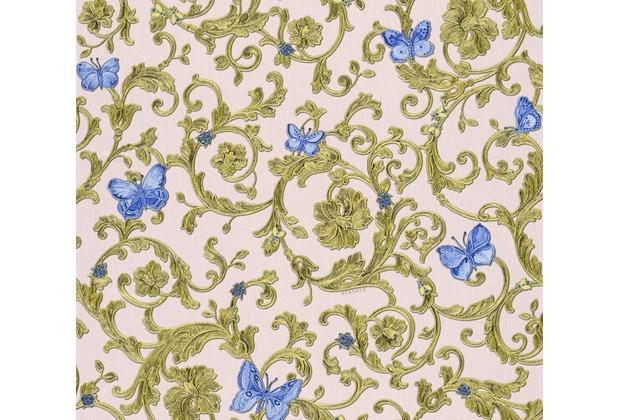 Versace florale Mustertapete Butterfly Barocco Vliestapete blau metallic rosa 10,05 m x 0,70 m