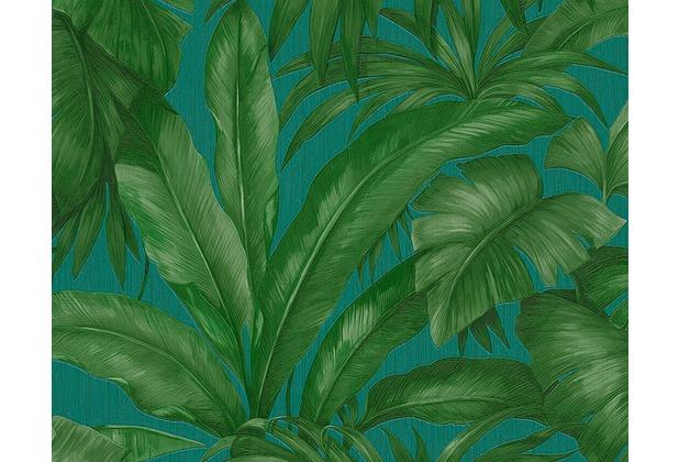 Versace florale Mustertapete Giungla, Tapete, blau, grün