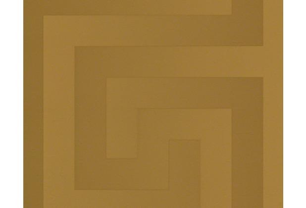 Versace grafische Mustertapete Greek, Tapete, metallic 935232