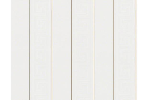 Versace grafische Mustertapete Greek, Tapete, metallic, weiß 935241
