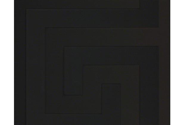 Versace grafische Mustertapete Greek, Tapete, schwarz