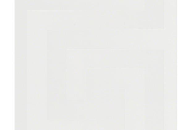 Versace grafische Mustertapete Greek, Tapete, weiß
