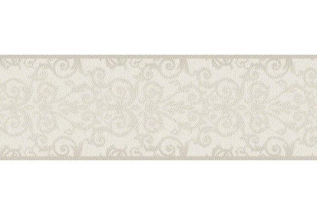 Versace klassische Bordüre Herald, grau, metallic, weiß