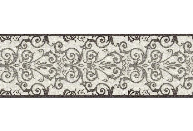 Versace klassische Bordüre Herald, metallic, schwarz, weiß