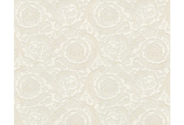 Versace klassische Mustertapete Barocco Flowers, Tapete, creme, metallic 935832