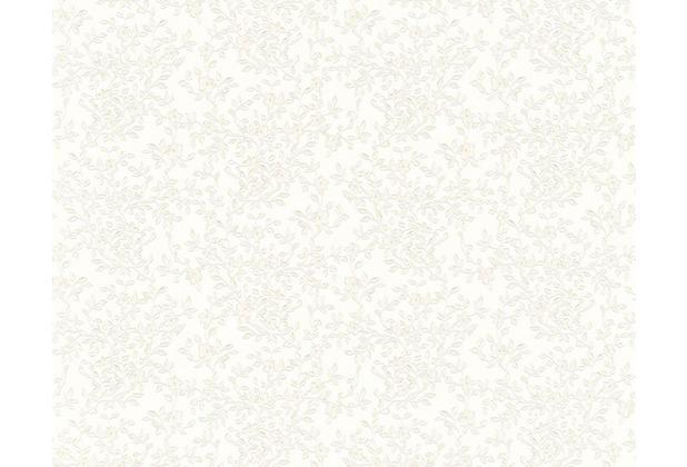 Versace klassische Mustertapete Barocco Flowers, Tapete, creme, metallic 935842