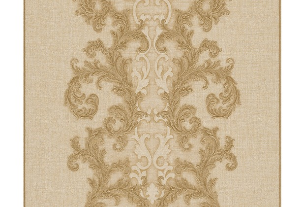 Versace klassische Mustertapete Baroque & Roll, Tapete, beige, metallic 962322