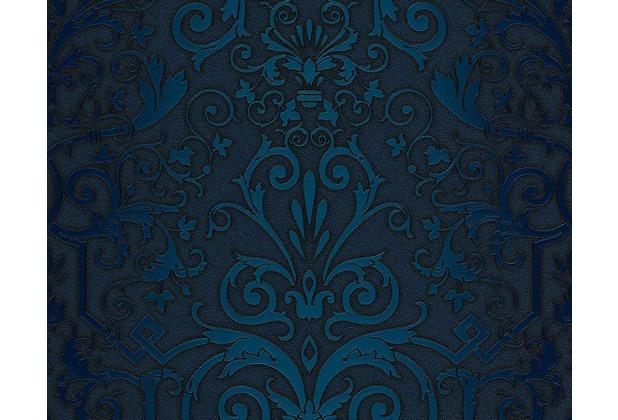 versace klassische mustertapete herald tapete blau - Tapete Blau