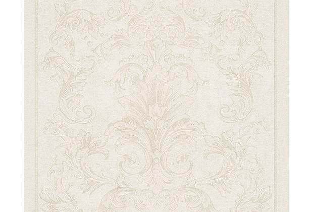 Versace klassische Mustertapete Pompei, Tapete, creme, metallic 962164