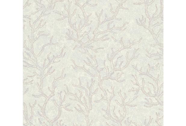 Versace Mustertapete Les Etoiles de la Mer Vliestapete grau metallic lila 10,05 m x 0,70 m
