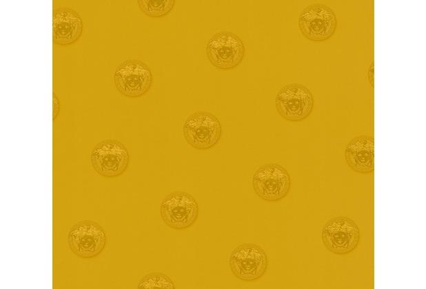 Versace Mustertapete Vanitas Vliestapete gelb metallic 10,05 m x 0,70 m