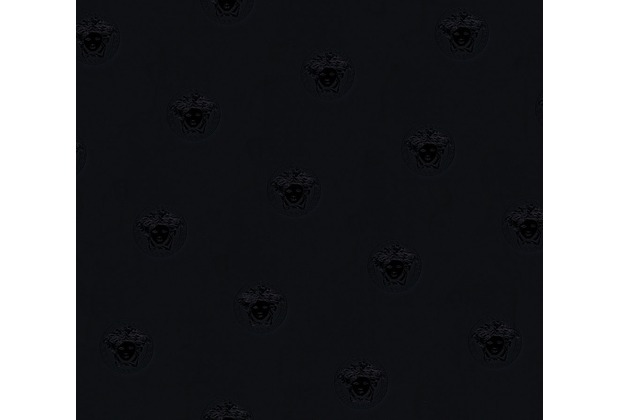 Versace Mustertapete Vanitas Vliestapete schwarz 10,05 m x 0,70 m