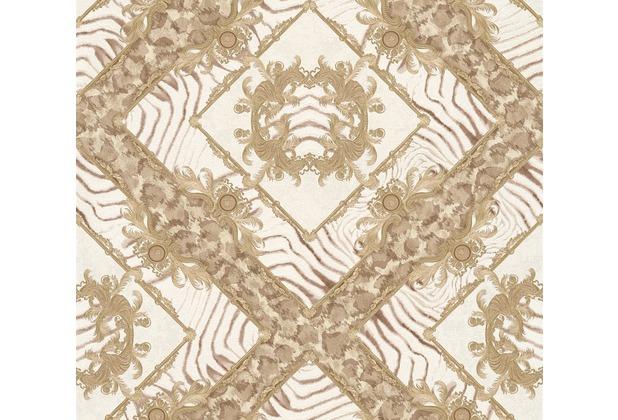 Versace Mustertapete Vasmara Vliestapete beige braun metallic 10,05 m x 0,70 m 349041