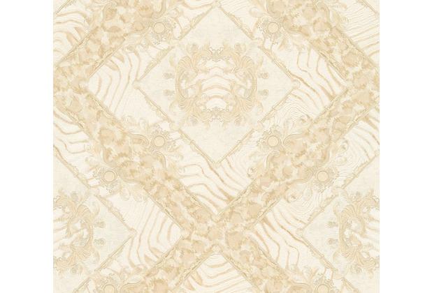 Versace Mustertapete Vasmara Vliestapete beige creme metallic 10,05 m x 0,70 m 349044