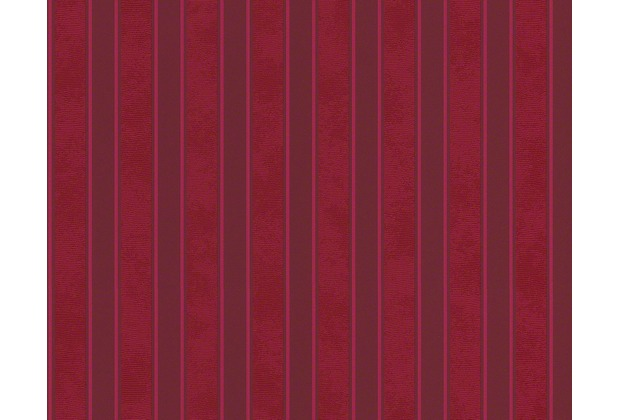 Versace Streifentapete Barocco and Stripes, Tapete, rot