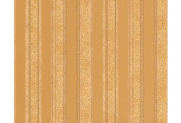 Versace Streifentapete Creamy Barocco, Tapete, braun, metallic 935892