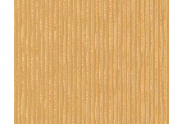 Versace Streifentapete Creamy Barocco, Tapete, braun, metallic 935902