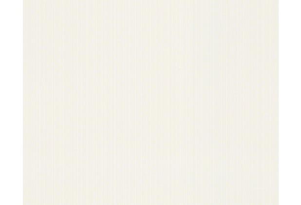 Versace Streifentapete Greek, Tapete, weiß