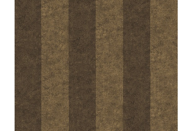 Versace Streifentapete Pompei, Tapete, braun, metallic, schwarz