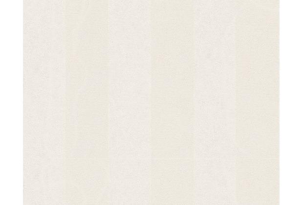 Versace Streifentapete Pompei, Tapete, metallic, weiß