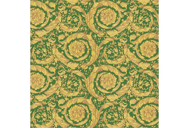 Versace Vliestapete Barocco Birds grün gelb beige 10,05 m x 0,70 m 366926