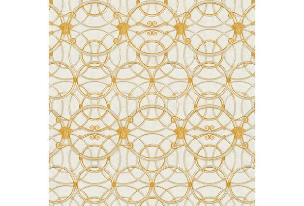Versace Vliestapete La Scala del Palazzo metallic weiß 10,05 m x 0,70 m 370491