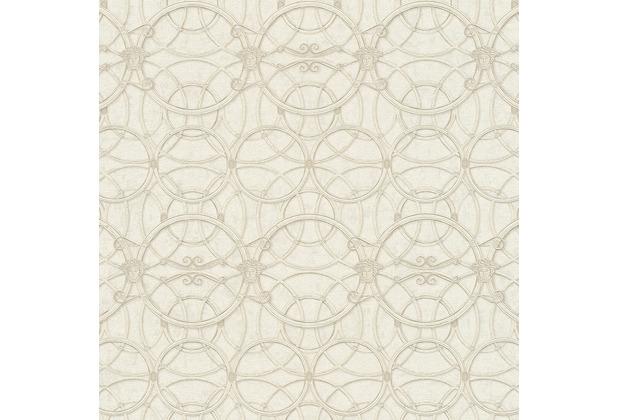 Versace Vliestapete La Scala del Palazzo metallic weiß 10,05 m x 0,70 m 370493