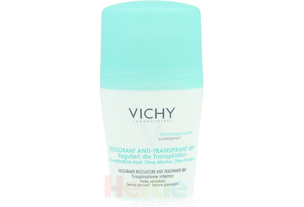 Vichy 48Hr Anti-Perspirant Roll-On Sensitive Skin - Alcohol Free 50 ml
