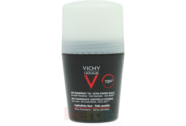 Vichy Homme Roll On Deodorant Sensitive Skin 72H Sensitive skin 50 ml