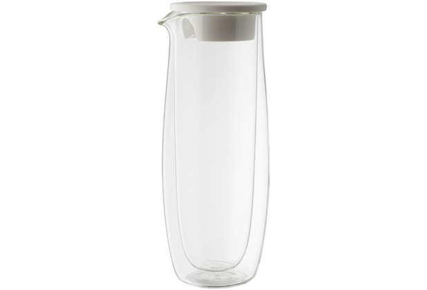 Villeroy & Boch Artesano Hot&Cold Beverages Glaskaraffe mit Deckel klar,weiß
