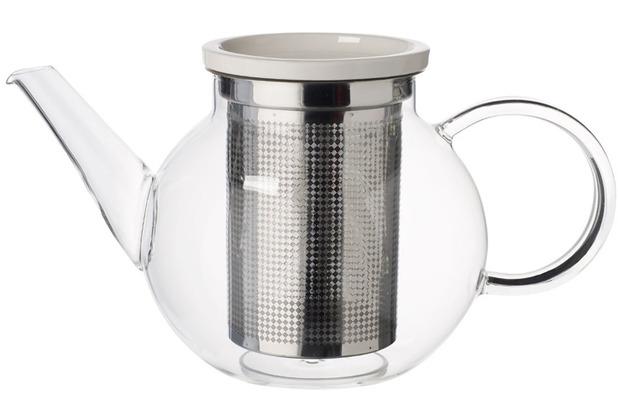 Villeroy & Boch Artesano Hot&Cold Beverages Teekanne Größe M mit Sieb klar,edelstahl