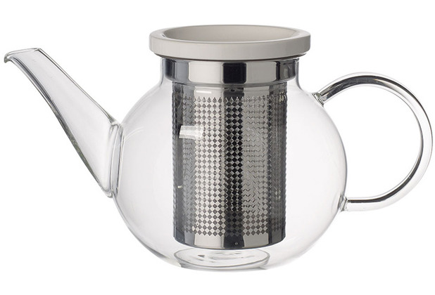 Villeroy & Boch Artesano Hot&Cold Beverages Teekanne Größe S mit Sieb klar,edelstahl