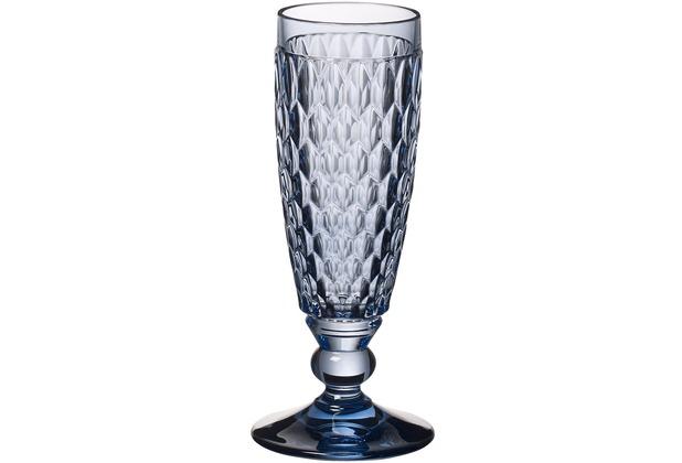 Villeroy & Boch Boston coloured Sektglas blue blau